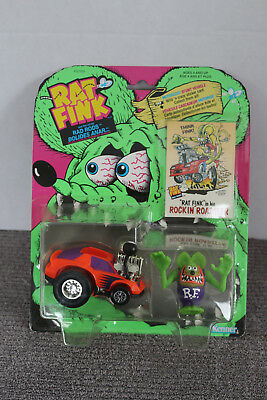 1990 RAT FINK in his Rad Rods ROCKIN' ROADSTER Vehicle NEW SEALED Big Daddy Roth