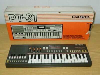 CASIO PT-31, PORTABLE ELECTRONIC KEYBOARD Vintage 1980er Jahre