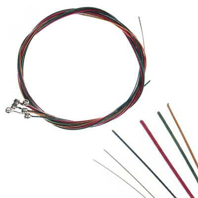 6pcs Colorful Rainbow Guitar Strings Cable Set for Acoustic Classic Folk Guitar