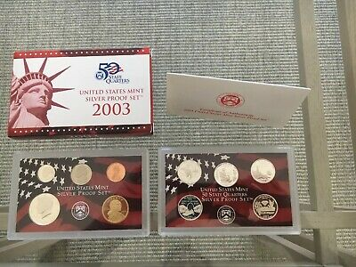 2003 & 2004 &US Mint SILVER Proof Set in Red Box with COA