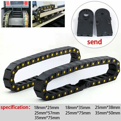 1 Yard CNC Router Cable Drag Chain Wire Transmission Carrier W+ End Connectors