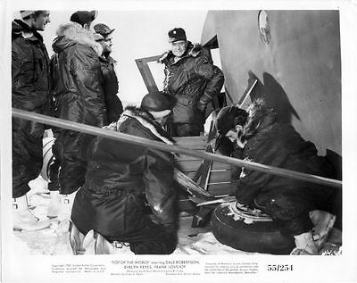FRANK LOVEJOY Vintage 1955 US AIR FORCE Movie Film Press Photo TOP OF THE WORLD