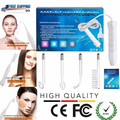 Portable High Frequency Facial Machine D'arsonval Skin Tightening Spot Remover@