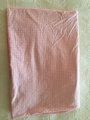 Girls pink Laura Ashley gingham Single fitted sheet