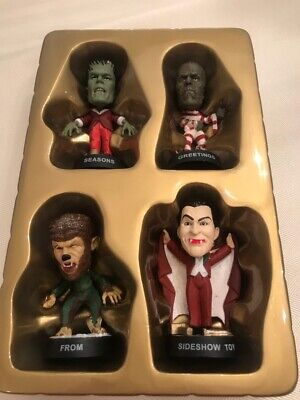 4 Little Big Heads Christmas promo Frankenstein Dracula Wolfman Mummy Monsters