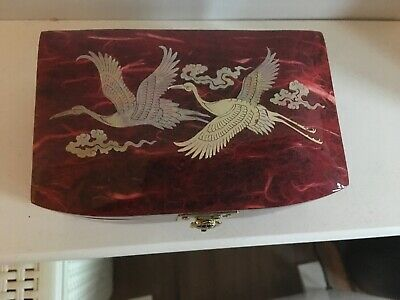 Inlaid Mother Of Pearl Lacquered Korean Trinket Casket
