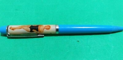 Vintage FLOATY PEN Fibre Optical Spark. undressing ladies  Ballpoint DENMARK