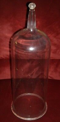 Vintage Glass Apothecary Cloche Dome 21""