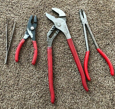 Assorted Pliers (Snap-on x2, Blue Point, General)