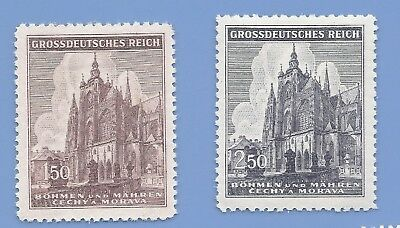 Nazi Germany Third Reich Nazi B&M Building Stamp set WW2 Era stamp