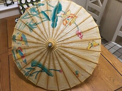 Authentic Chinese Bamboo& Paper Parasol / Umbrella