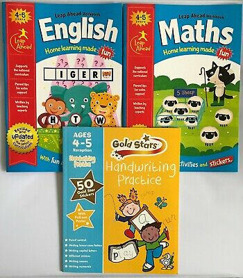 Leap ahead Maths and English ages 4-5 + handwriting book 4-5 NEW!!!