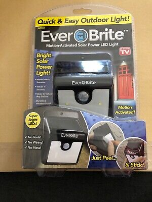 NEW Ever Brite Motion Activated Solar Power LED Light,As Seen On T.V