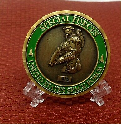 challenge coin DONALD TRUMP SPACE FORCE special forces HALO 4/5