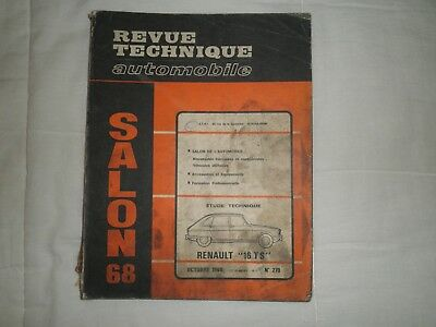 revue technique automobile renault 16TS