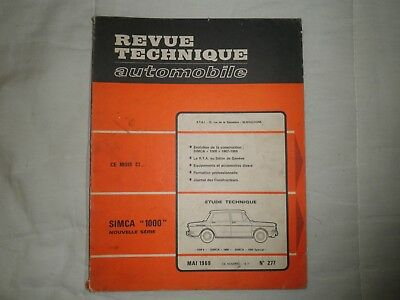 revue technique automobile  SIMCA 1000