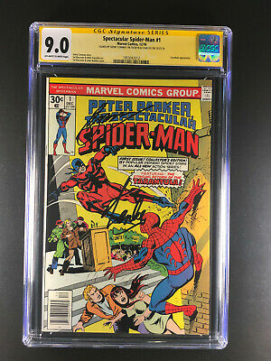 Spectacular Spider-Man 1 CGC 9.0 signed by Stan Lee Gerry Conway Tarantula app