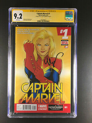 Captain Marvel 1 CGC 9.2 signed by Kelly Sue DeConnick Mavel 2014
