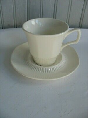 Vtg s/8 Independence ? Westmoreland ? White Ironstone Cups & saucers sets