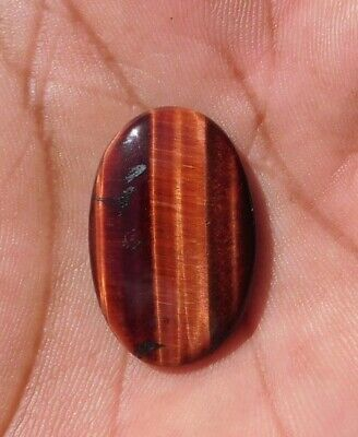18.85 Cts Iron Tiger Eye Oval Shape Cabochon Gemstone 100% Natural