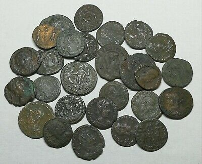 Ancient Roman Late Imperial Bronze Coins LOT4 - 27 pieces SEE PICTURE!!