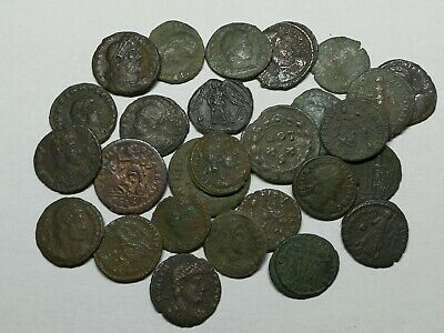 Ancient Roman Late Imperial Bronze Coins LOT5 - 28 pieces SEE PICTURE!!