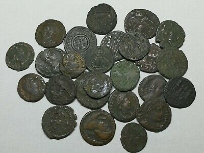 Ancient Roman Late Imperial Bronze Coins LOT6 - 26 pieces SEE PICTURE!!