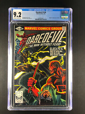 Daredevil 168 CGC 9.2 Origin & 1st app Elektra Natchios Off White to White J