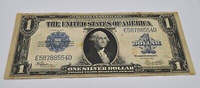 1923 US $1 Silver Certificate Blue Seal Large Note
