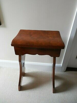Antique, Rustic, High Farmhouse Stool, Jointed Hardwood,Timber Top