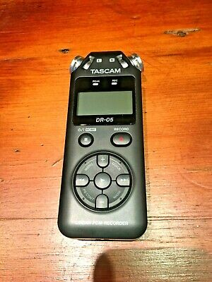 TASCAM DR-05 Digital Recorder with Omnidirectional Microphones - Black