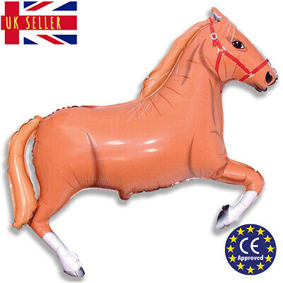 GIANT Black Horse Pony Equestrian Balloon CE Approved Birthday Foil Air Helium