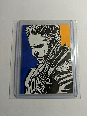 X Men Wolverine Original 1/1 Artist Sketch Card s9