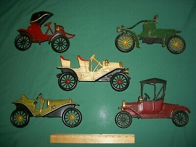 Lot of 5 Vintage Sexton & Midwest Painted Metal Wall Plaques – ANTIQUE CARS
