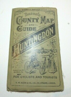 Bacons  County Map And Guide Huntingdon Paper