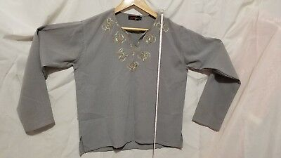 INDIAN / PAKISTANI Gray KURTI with embroidery
