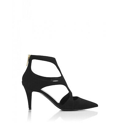 d8830419315 Tamara Mellon Black Fever Suede Sandals 70MM Heels US 11 EUR 41  795 NEW