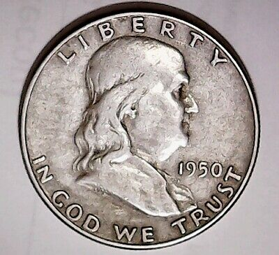 1950-p Franklin Silver Half Dollar Better Date
