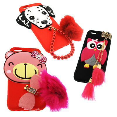 Cute Novelty Bling Case Cover for iPhone 6 / 6S , Teddy Bear , Dalmation, Owl