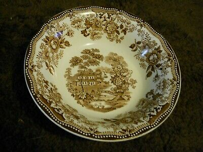 "Clarice Cliff Tonquin Royal Staffordshire England 8"" Serving BOWL Brown VTG"