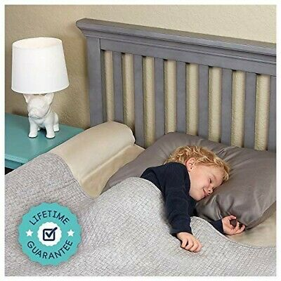 [2-Pack] Inflatable Bed Bumpers for Toddlers | Travel Bed Rail, Blow-up Bed Bump