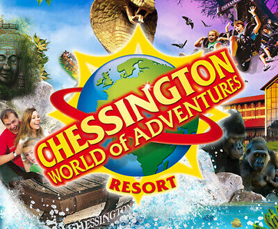 2  x Chessington tickets all 9 code to pick your own date with sun savers.