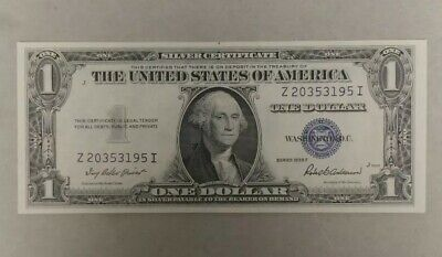 Crisp 1935F $1 BLUE Seal SILVER Certificate Old US Paper Money One Dollar Note