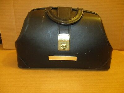 Proffesional Case Inc K5 35316- S1 Genuine Black  Leather Doctors Bag - No Key