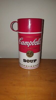 Vintage 1998 Campbell's Soup Thermos Insulated Plastic Can-Tainer
