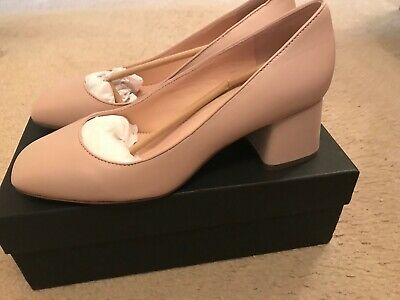b0a7d8251a3 J.crew Block-Heel Pump In Leather Size 9M Toasted Almond J8239