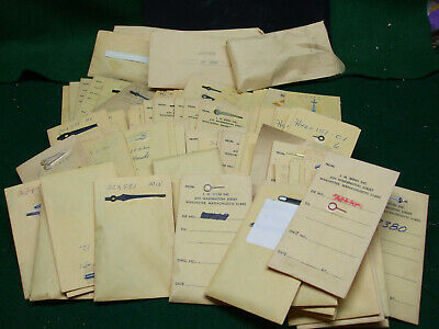 4 Lots of Assorted Clock / Watch Hands – 90+ envelopes plus Lots B, C, & D