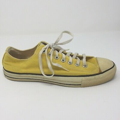 vintage Made In USA Yellow Converse Low Top All Stars Mens Size 10
