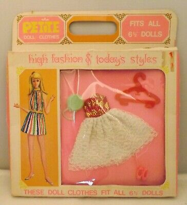 """Viintage Petite Doll Fashion...fits Most 6 1/2"""" ..dawn, Angie, Rock Flowers Etc."""