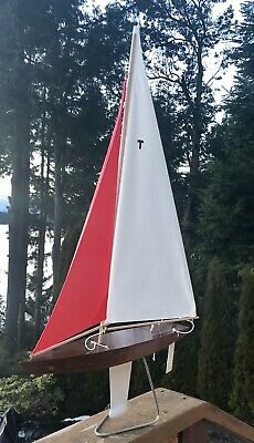 """31"""" T-Class Racing Sloop Toy Model Wooden Pond Yacht Sail Boat Sailboat Ship"""